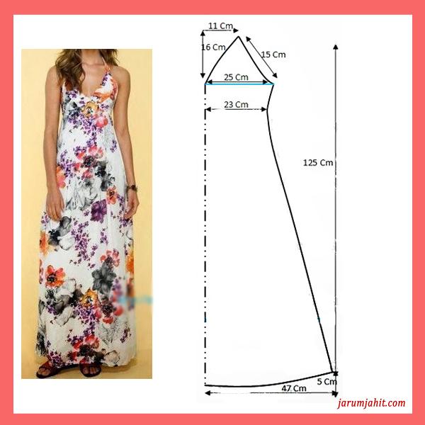 pola baju dress sederhana