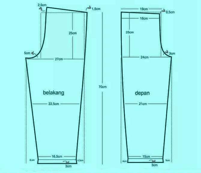 Pola Piyama Anak (celana)