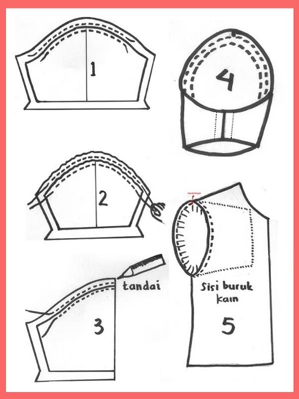 cara-memasang-lengan-baju