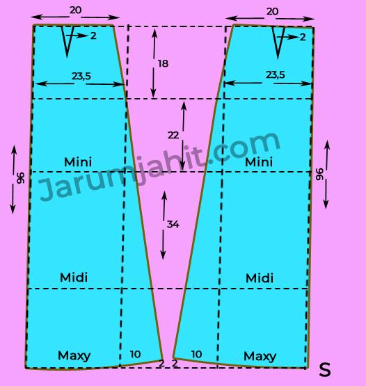 Pola Dasar Rok A Line S